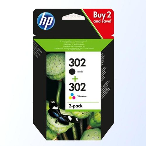 HP 302 Multipack Original Druckerpatronen schwarz color